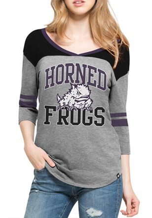 '47 Horned Frogs Womens Grey Rush T-Shirt