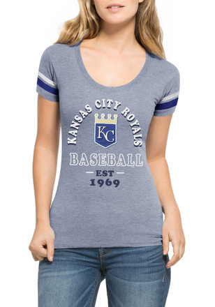 '47 KC Royals Womens Fantasy Blue Scoop T-Shirt