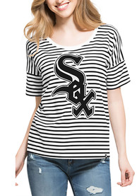47 Chicago White Sox Womens Black Coed Stripe Scoop