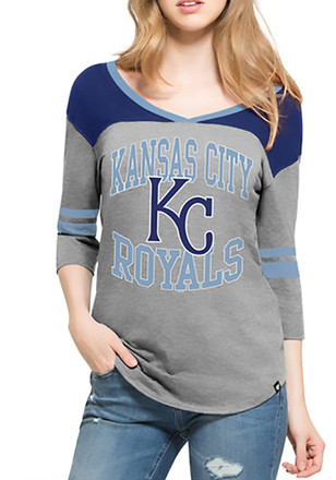 '47 KC Royals Womens Grey Replay Rush T-Shirt