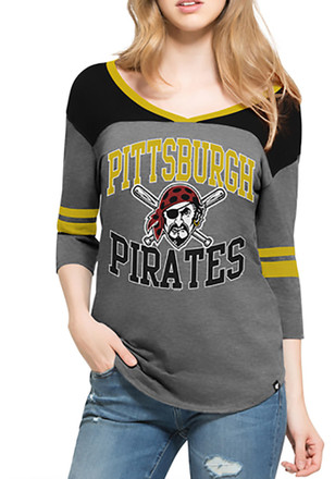 '47 Pitt Pirates Womens Grey Replay Rush T-Shirt