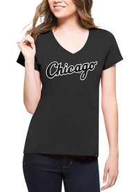 47 Chicago White Sox Womens Charcoal Splitter V-Neck
