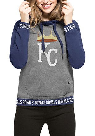 '47 Kansas City Royals Womens Grey Encore Revolve Hoodie