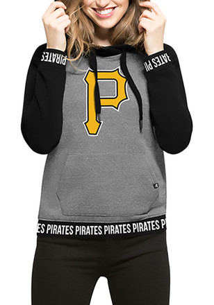 '47 Pittsburgh Pirates Womens Grey Encore Revolve Hoodie