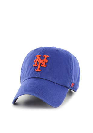 new york blue home clean up adjustable hat mets cap logo font captains space