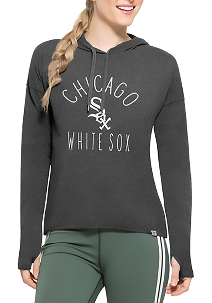 '47 Chicago White Sox Womens Black Energy Lite Hoodie