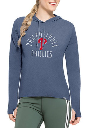'47 Philadelphia Phillies Womens Light Blue Energy Lite Hoodie