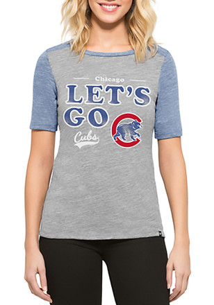 '47 Chicago Cubs Womens Empire Grey T-Shirt
