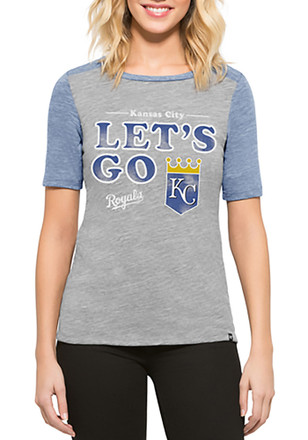 '47 Kansas City Royals Womens Empire Grey T-Shirt