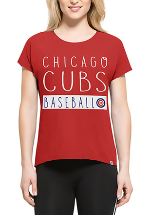 '47 Chicago Cubs Womens Red SS Athleisure Lumi Tee Tee