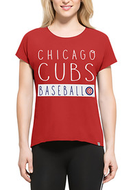 47 Chicago Cubs Womens Red SS Athleisure Lumi Tee Tee