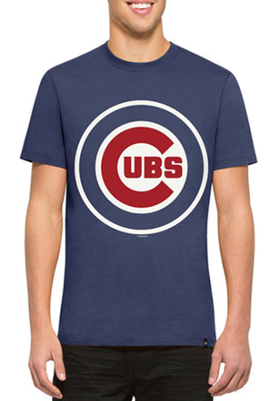 '47 Chicago Cubs Mens Blue Crosstown Flanker Fashion Tee