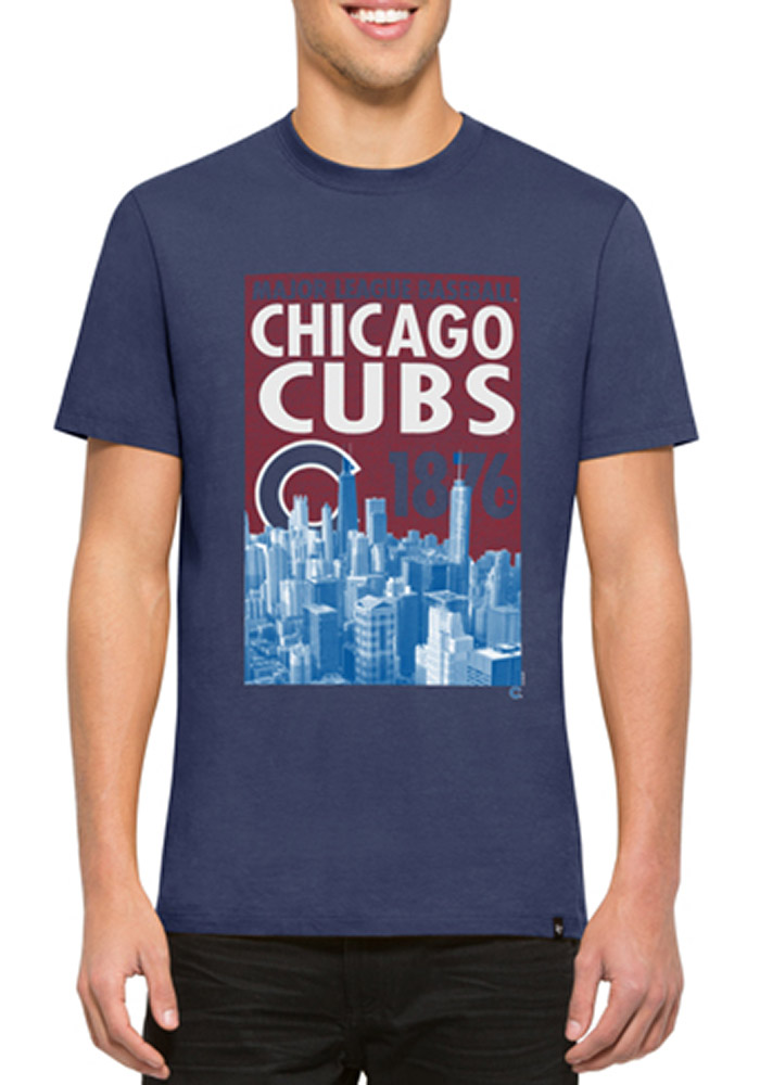 47 Chicago Cubs Blue Crosstown Flanker Fashion Tee