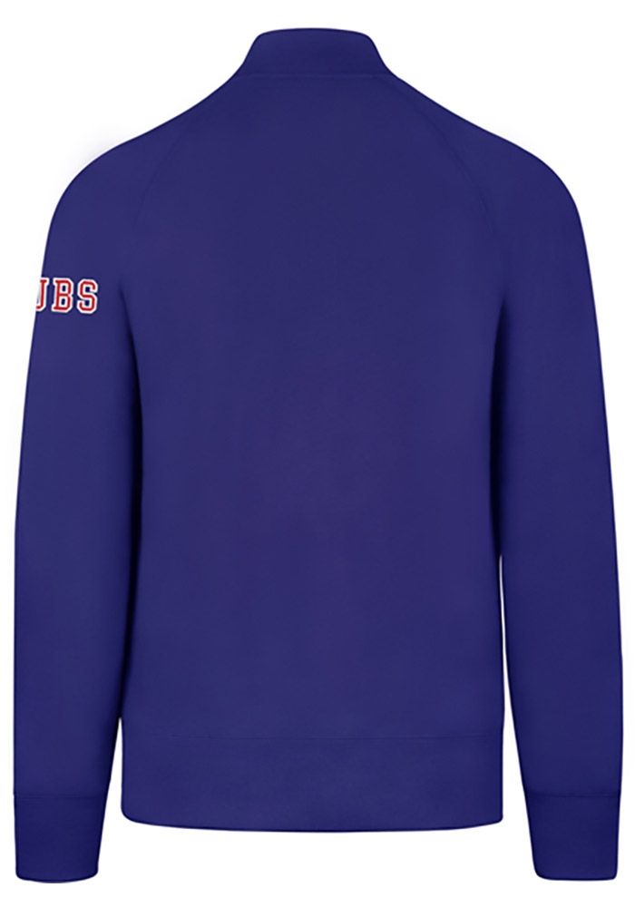 '47 Chicago Cubs Mens Blue Sport Long Sleeve 1/4 Zip Fashion Pullover - Image 2