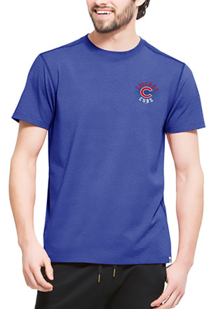 '47 Chicago Cubs Mens Blue SS Athleisure Full Speed Tee Tee