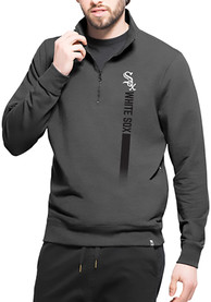 Chicago White Sox 47 On Side 1/4 Zip Pullover - Black