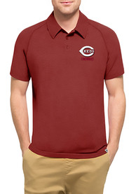 47 Cincinnati Reds Mens Red Forward Athleisure Polo