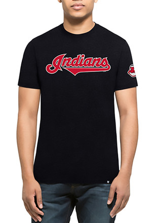 '47 Cleveland Indians Mens Navy Blue Team Club Tee