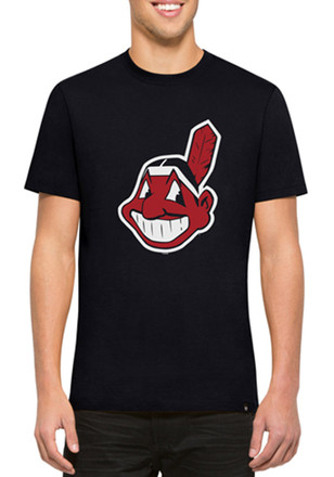 '47 Cleveland Indians Mens Navy Blue Crosstown Flanker Fashion Tee