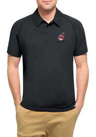 '47 Cleveland Indians Mens Navy Blue Forward Athleisure Polo