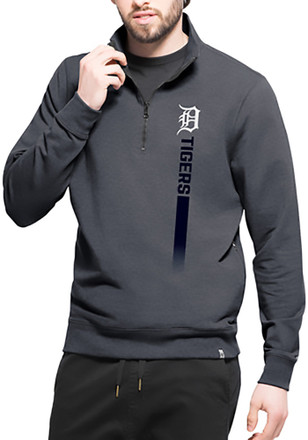 '47 Detroit Tigers Mens Navy Blue On Side Athleisure 1/4 Zip