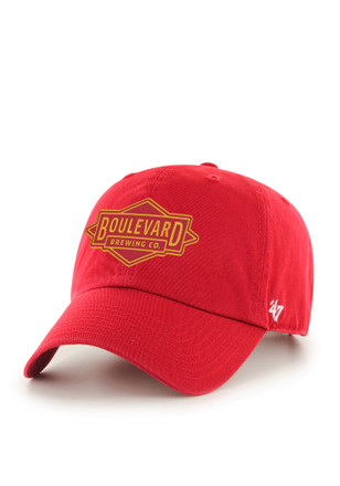 Boulevard Brewing '47 CLEAN UP Red Adjustable Hat