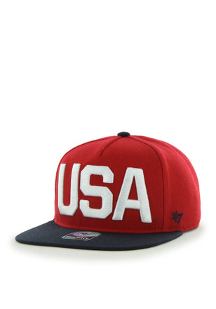 '47 Team USA Mens Red Qualifier Snapback Hat