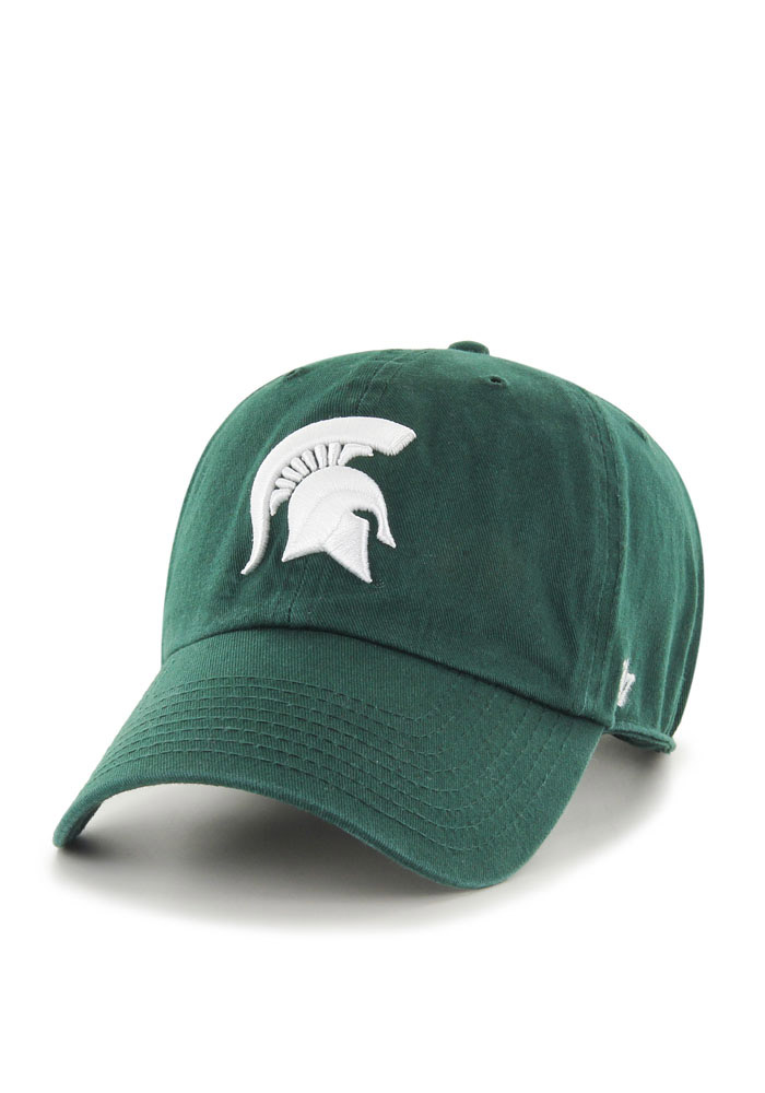 47 Michigan State Spartans Green Clean Up Youth Adjustable Hat