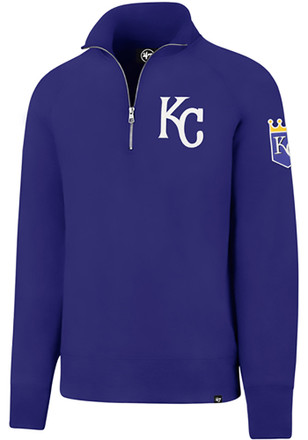'47 Kansas City Royals Mens Blue Sport 1/4 Zip Fashion Pullover