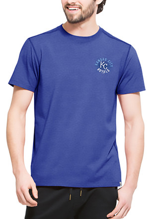 '47 Kansas City Royals Mens Blue SS Athleisure Full Speed Tee Tee