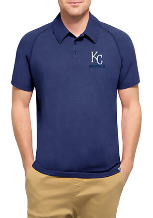 '47 Kansas City Royals Mens Blue Forward Athleisure Polo
