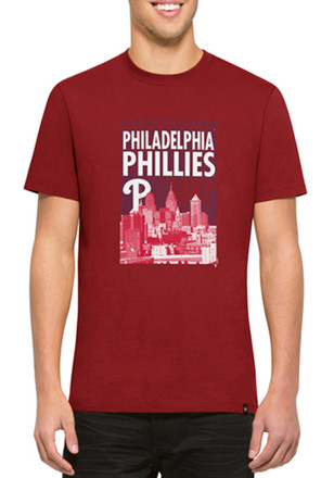 '47 Phillies Mens Red Crosstown Flanker Fashion Tee
