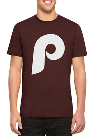 '47 Phillies Mens Maroon Crosstown Flanker Fashion Tee