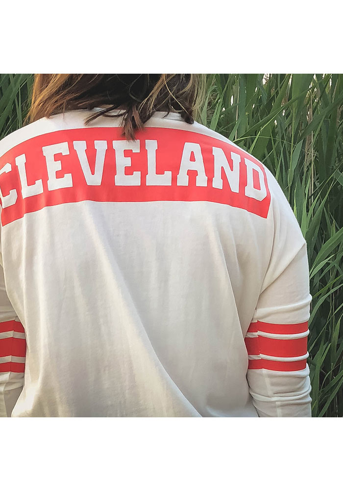 '47 Cleveland Browns Womens White Courtside LS Tee - Image 2