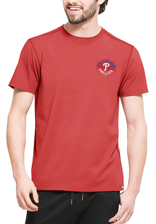 '47 Philadelphia Phillies Mens Red SS Athleisure Full Speed Tee Tee