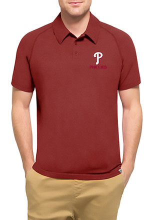 '47 Philadelphia Phillies Mens Red Forward Athleisure Polo