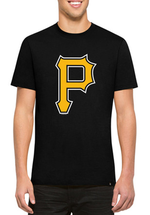 '47 Pittsburgh Pirates Mens Black Crosstown Flanker Fashion Tee