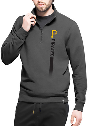 '47 Pittsburgh Pirates Mens Black On Side Athleisure 1/4 Zip