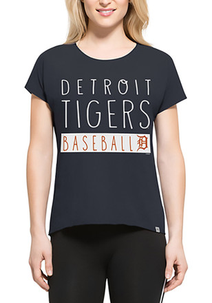 '47 Detroit Tigers Womens Navy Blue SS Athleisure Lumi Tee Tee