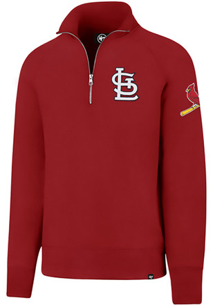 '47 St Louis Cardinals Mens Red Sport 1/4 Zip Fashion Pullover