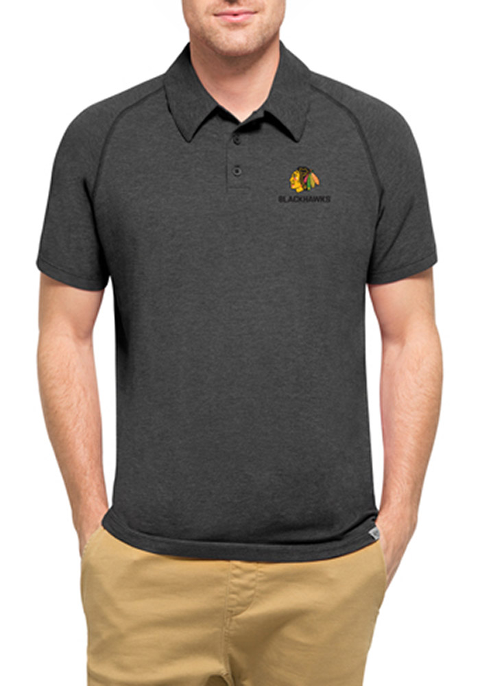 Chicago Blackhawks 47 Forward Polo Shirt - Black