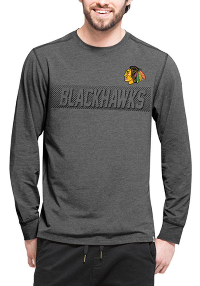 47 Chicago Blackhawks Black Forward Long Sleeve T-Shirt - Image 1