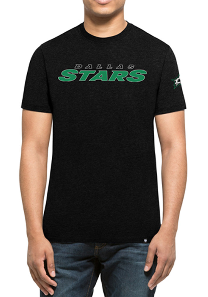 '47 Dallas Stars Mens Black Team Club Short Sleeve T Shirt - Image 1