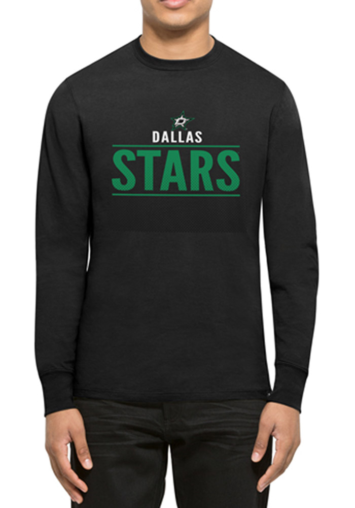 47 Dallas Stars Black Splitter Long Sleeve T Shirt - Image 1