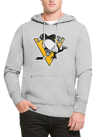 '47 Pittsburgh Penguins Mens Headline Grey Fashion Hood