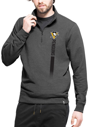 '47 Pittsburgh Penguins Mens Black On Side Athleisure 1/4 Zip