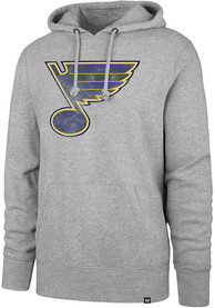St Louis Blues 47 Headline Hooded Sweatshirt - Grey
