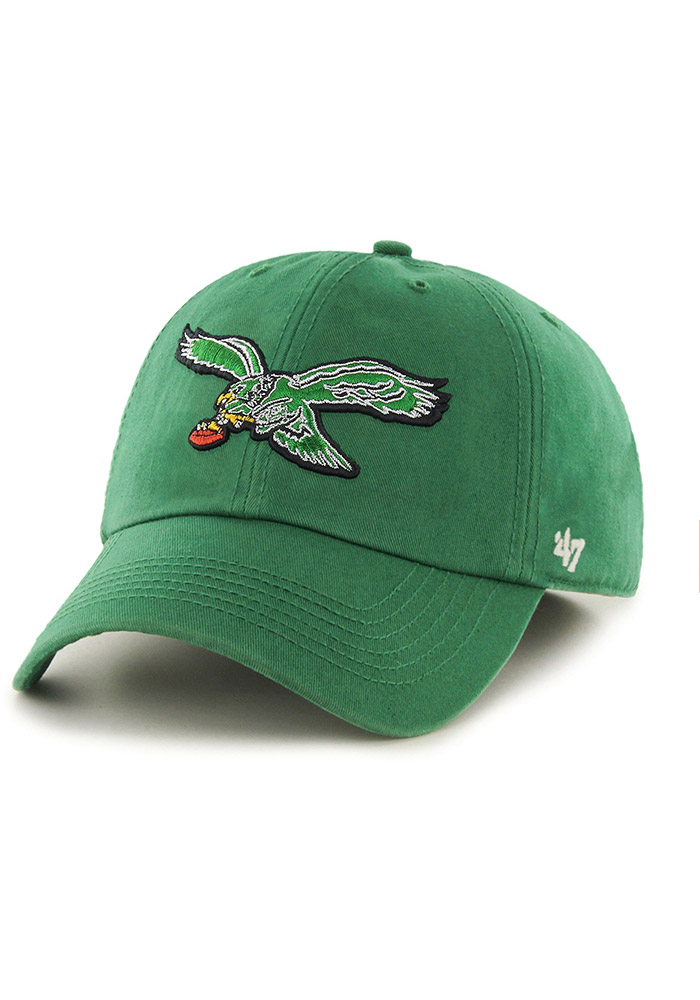 '47 Philadelphia Eagles Mens Kelly Green Retro Franchise Fitted Hat - Image 1