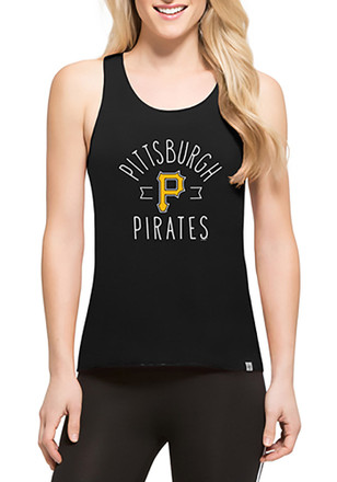 '47 Pittsburgh Pirates Womens Black Lumi Tank Top