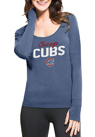 '47 Chicago Cubs Womens Light Blue Forward Athleisure Tee